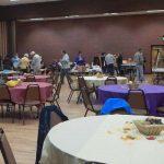 Getting the big hall set up