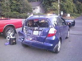 September 2011 car accident: rear-ended at 45 mph.