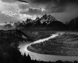 """""""The Tetons - Snake River,"""" Grand Teton National Park, Wyoming; From the series Ansel Adams Photographs of National Parks and Monuments, compiled 1941 - 1942, documenting the period ca. 1933 - 1942."""
