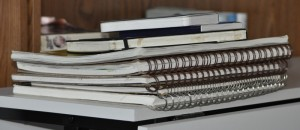 Pile of notebooks...