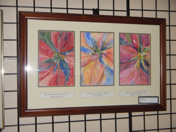 Poinsettias triptic
